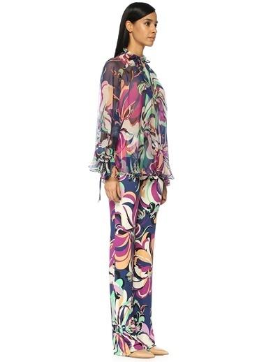 Yüksek Bel Desenli Bol Paça Pantolon-Emilio Pucci